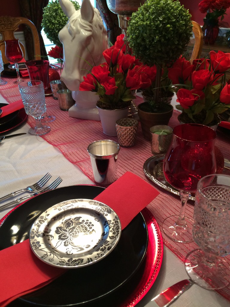 Kentucky derby placesetting